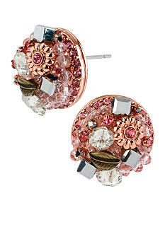Betsey Johnson Round Cluster Stud Earrings