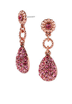 Betsey Johnson Crystal Teardrop Earrings