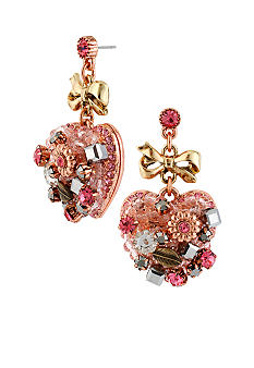 Betsey Johnson Vintage Heart Drop Earrings