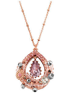 Betsey Johnson Teardrop Pendant Necklace