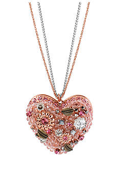 Betsey Johnson Vintage Heart Pendant Necklace