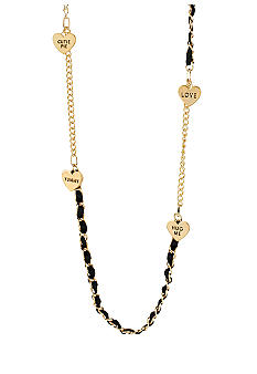 Betsey Johnson Multi Heart Long Necklace