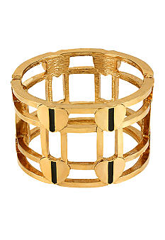 Betsey Johnson Heart Hinged Bangle Bracelet