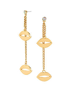 Betsey Johnson Lips Linear Earrings