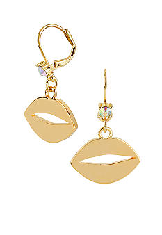 Betsey Johnson Lips Drop Earrings