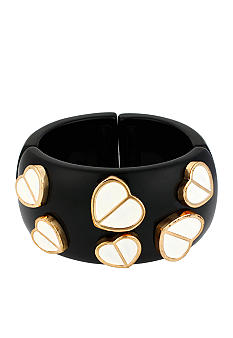 Betsey Johnson Multi Heart Stretch Bangle Bracelet