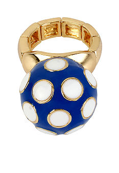 Betsey Johnson Polka Dot Ball Stretch Ring