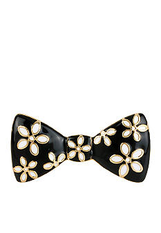 Betsey Johnson Flower Bow Two-Finger Stretch Ring