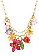 Betsey Johnson Flower & Bug Frontal Necklace