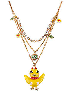 Betsey Johnson Chickadee Multi Row Necklace