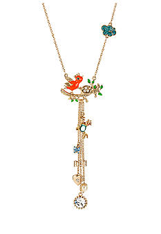 Betsey Johnson Bird Nest Y-Shaped Necklace