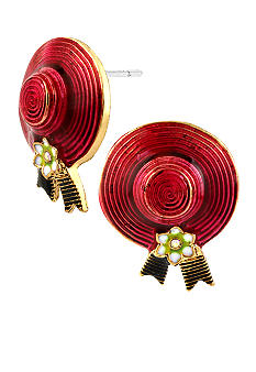 Betsey Johnson Hat Stud Earrings