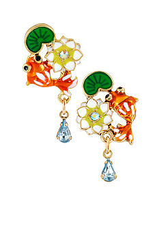 Betsey Johnson Koi Fish Stud Earrings