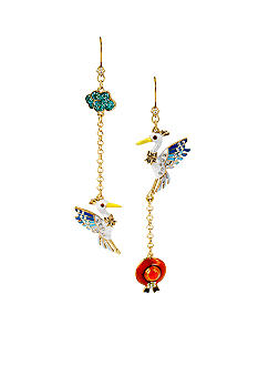 Betsey Johnson Pelican Mismatch Earrings