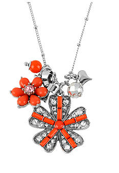 Betsey Johnson Flower Pendant Necklace