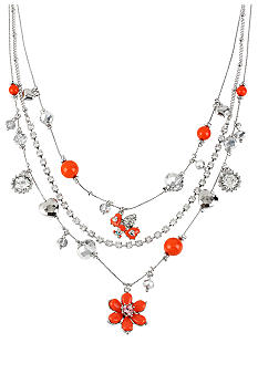 Betsey Johnson Flower Illusion Necklace