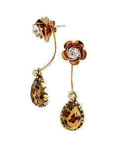 Betsey Johnson Leopard Teardrop Earrings