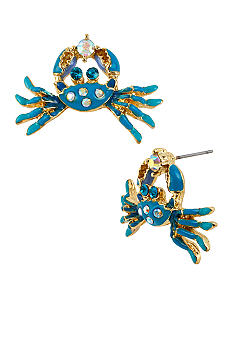 Betsey Johnson Crab Stud Earrings