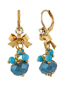 Betsey Johnson Faceted Bead Drop Earrings