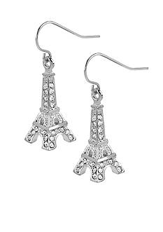Betsey Johnson Crystal Eiffel Tower Drop Earrings