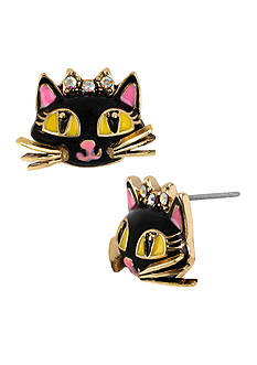 Betsey Johnson Cat Stud Earring