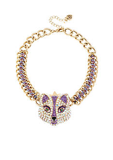 Betsey Johnson Fox Frontal Necklace
