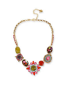 Betsey Johnson Crystal Gem Frontal Necklace
