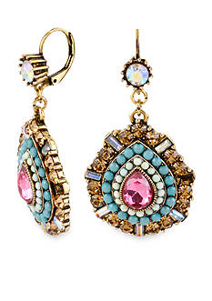 Betsey Johnson Crystal Teardrop Earring