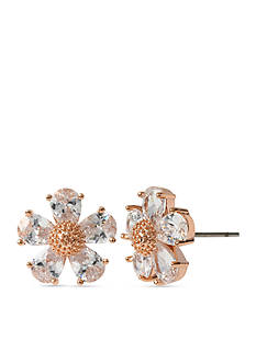 Betsey Johnson Crystal Flower Stud Earring