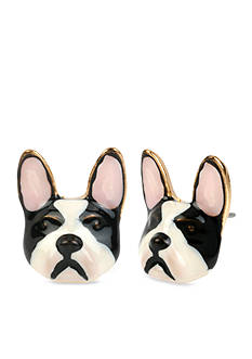 Betsey Johnson Bulldog Stud Earring