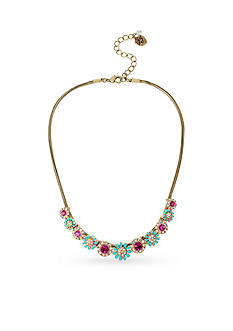 Betsey Johnson Gold-Tone Boho Betsey Flower Collar Necklace