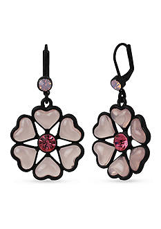 Betsey Johnson Memoirs of Betsey Flower Drop Earrings