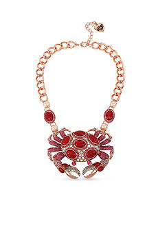 Betsey Johnson Crab Statement Necklace
