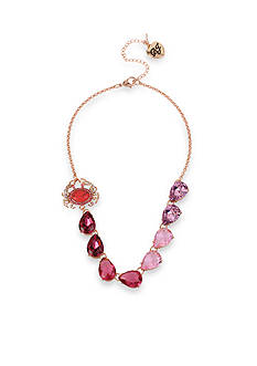 Betsey Johnson Crab Ombre Faceted Stone Statement Necklace