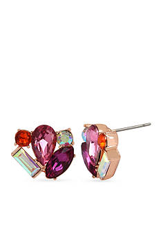 Betsey Johnson Faceted Stone Cluster Stud Earrings