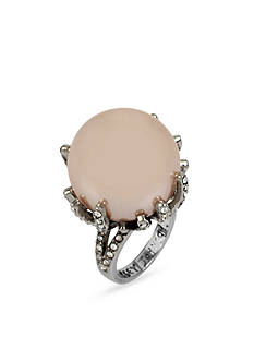 Betsey Johnson Large Pearl Cocktail Ring