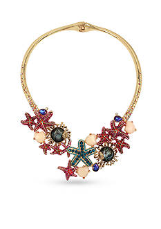 Betsey Johnson Starfish Hinged Collar Necklace