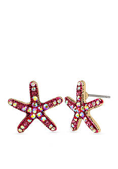 Betsey Johnson Starfish Button Earrings