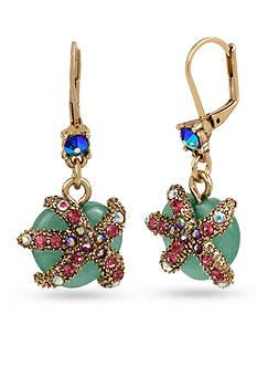 Betsey Johnson Starfish Drop Earrings