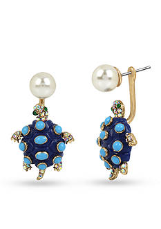 Betsey Johnson Pearl and Turtle Earring Jacket