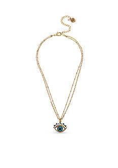 Betsey Johnson Gold-Tone Betsey's Delicates Eye Pendant Necklace