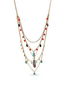 Betsey Johnson Gold-Tone Betsey's Delicates Bird Layered Necklace