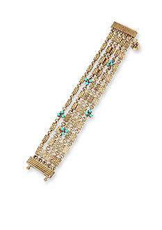 Betsey Johnson Gold-Tone Betsey's Delicates Wrap Bracelet