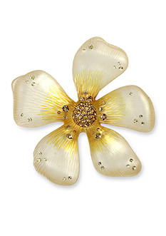 Betsey Johnson Gold-Tone Yellow Flower Pin