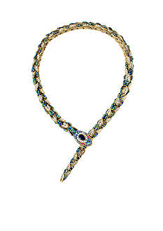 Betsey Johnson Gold-Tone Snake Collar Necklace