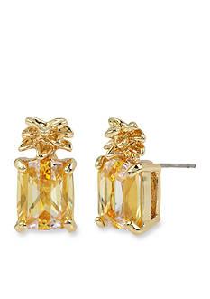 Betsey Johnson Gold-Tone Pineapple Stud Earrings