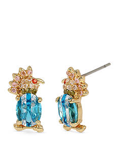 Betsey Johnson Gold-Tone Cubic Zirconia Bird Stud Earrings