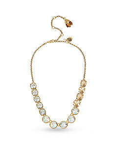 Betsey Johnson Gold-Tone Faceted Stone Statement Necklace