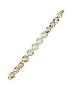Betsey Johnson Gold-Tone Faceted Stone Beaded Bracelet
