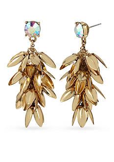 Betsey Johnson Gold-Tone Metal Flower Waterfall Drop Earrings